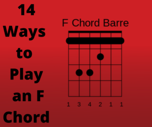 F Chord and F Chord Variations on Guitar